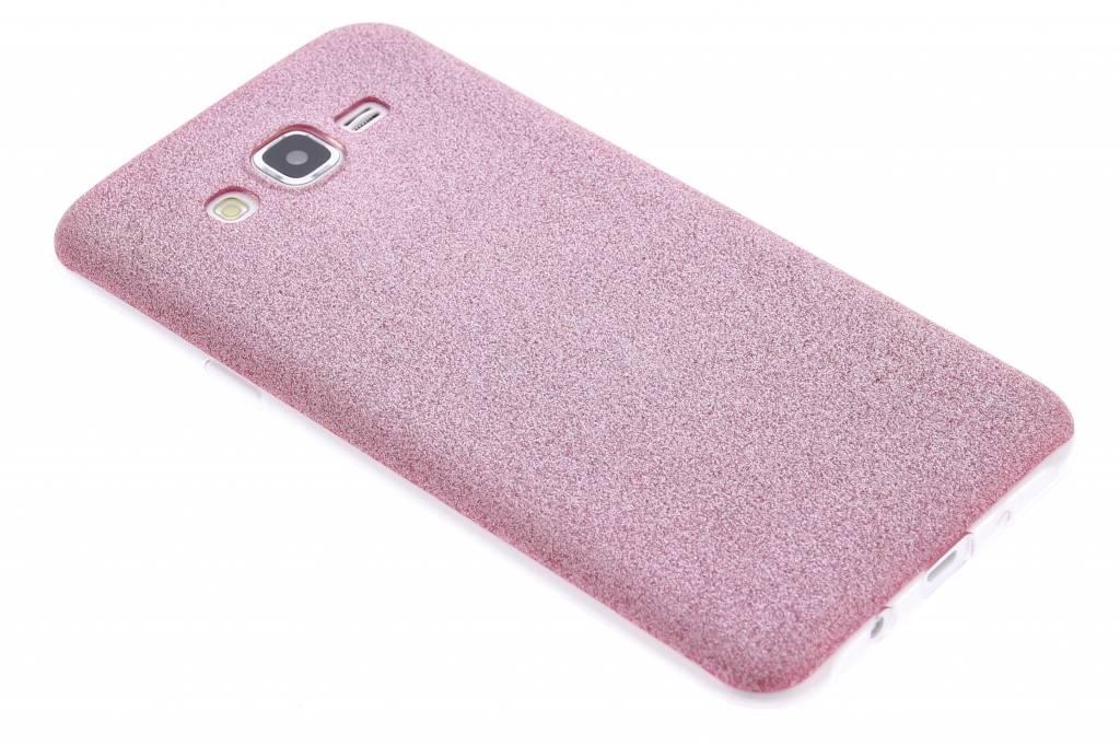 Roze glitter TPU siliconen hoesje voor de Samsung Galaxy J7