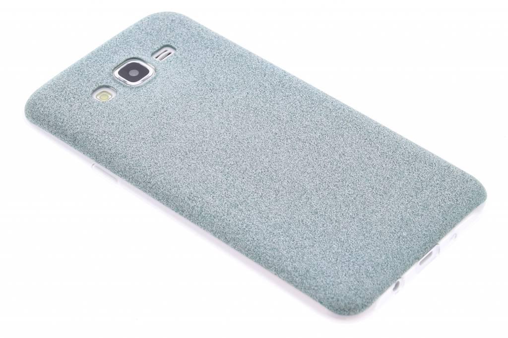 Turquoise glitter TPU siliconen hoesje voor de Samsung Galaxy J7