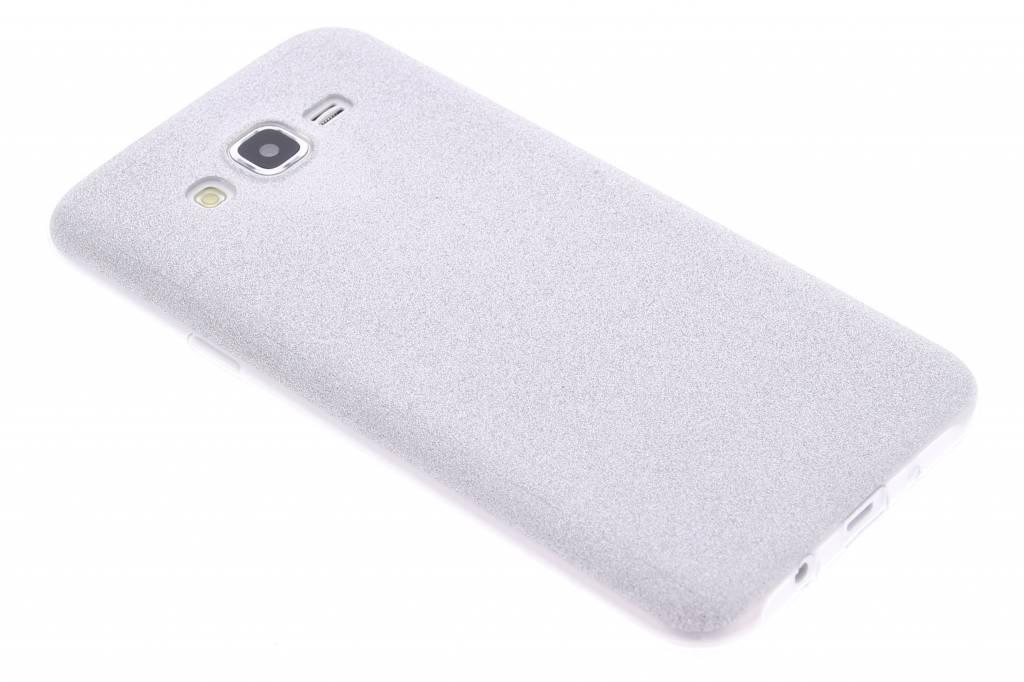 Zilver glitter TPU siliconen hoesje voor de Samsung Galaxy J7