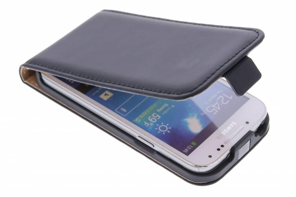 Selencia Luxe Flipcase voor de Samsung Galaxy S4 Mini - Zwart