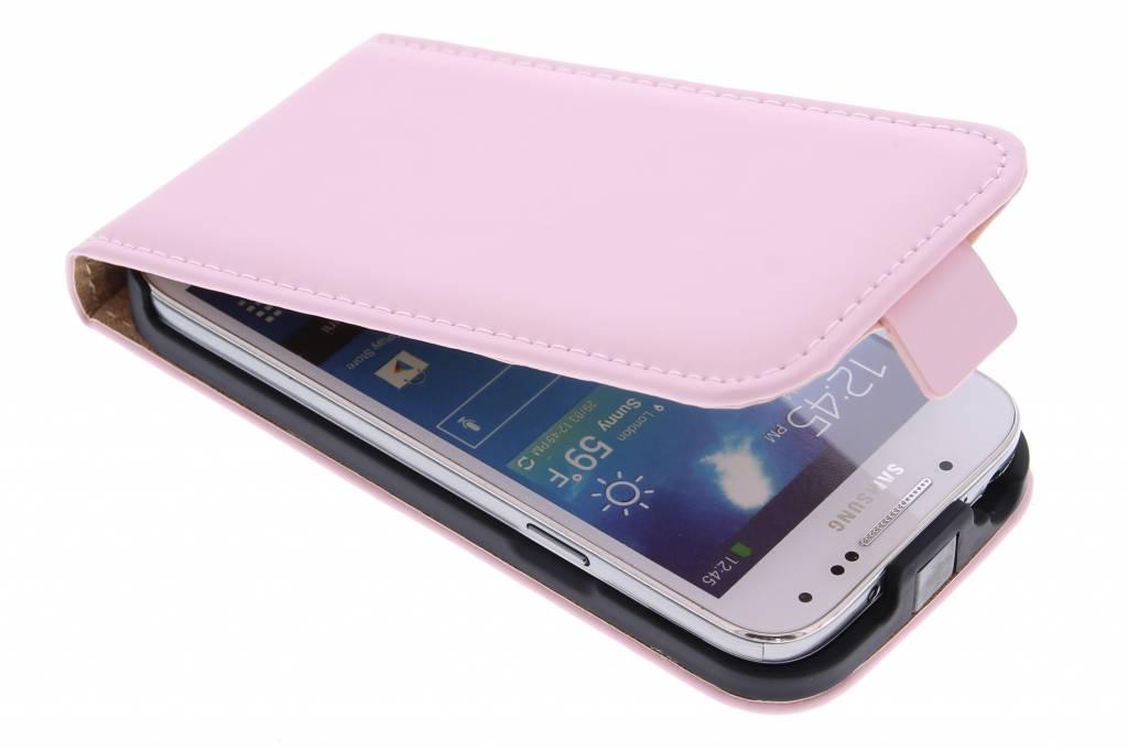 Selencia Luxe Flipcase voor de Samsung Galaxy S4 Mini - Poederroze