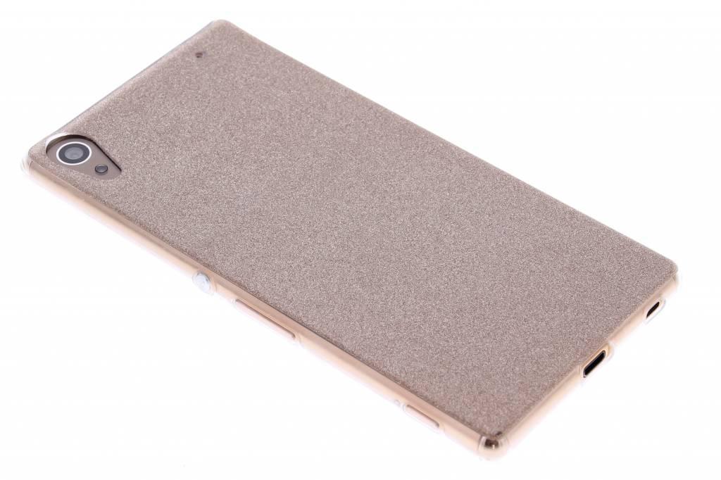 Brons glitter TPU siliconen hoesje voor de Sony Xperia Z3 Plus