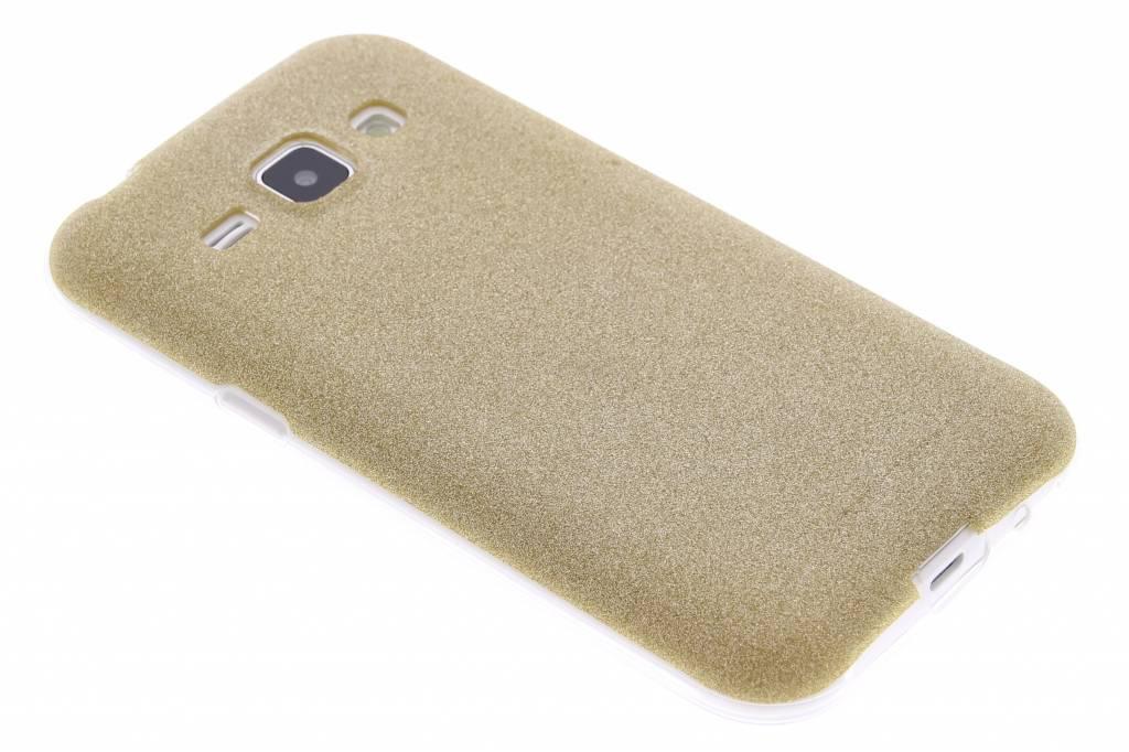 Goud glitter TPU siliconen hoesje voor de Samsung Galaxy J1