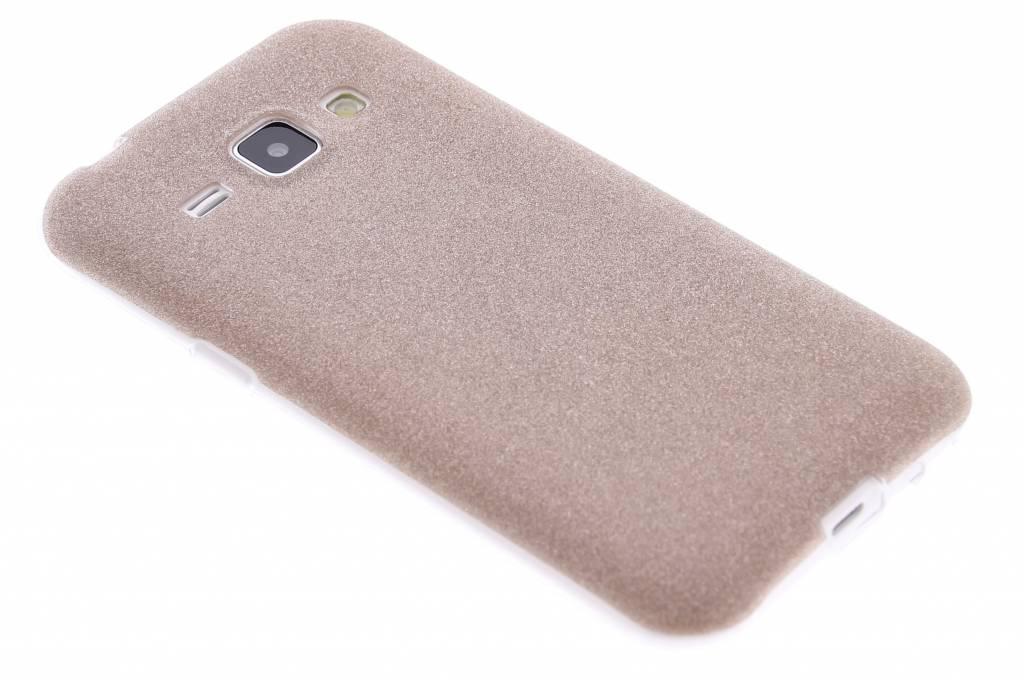 Brons glitter TPU siliconen hoesje voor de Samsung Galaxy J1