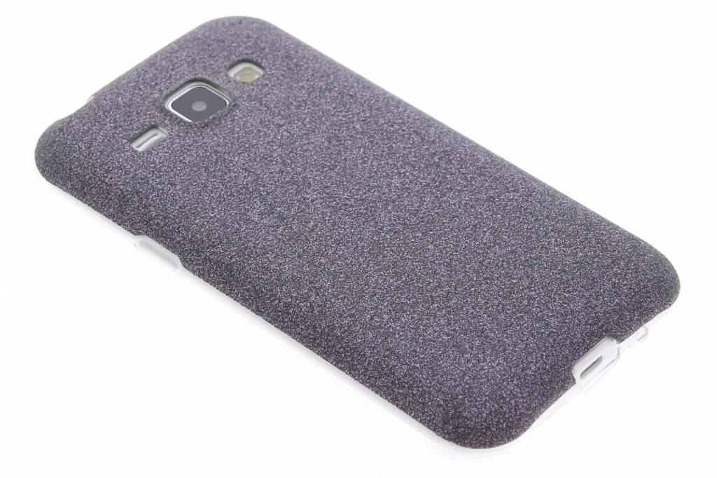 Zwart glitter TPU siliconen hoesje voor de Samsung Galaxy J1
