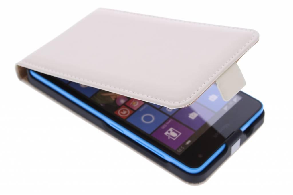 Selencia Luxe Flipcase voor de Microsoft Lumia 535 - Gebroken wit