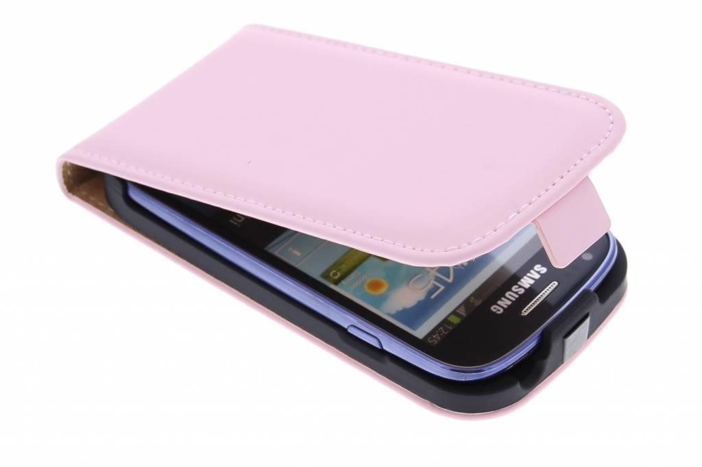 Selencia Luxe Flipcase voor de Samsung Galaxy S3 Mini - Poederroze