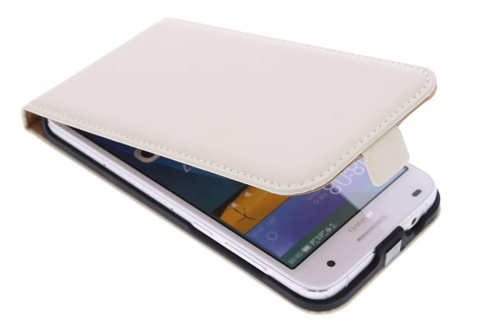 Selencia Luxe Flipcase voor de Huawei Ascend G7 - Gebroken Wit