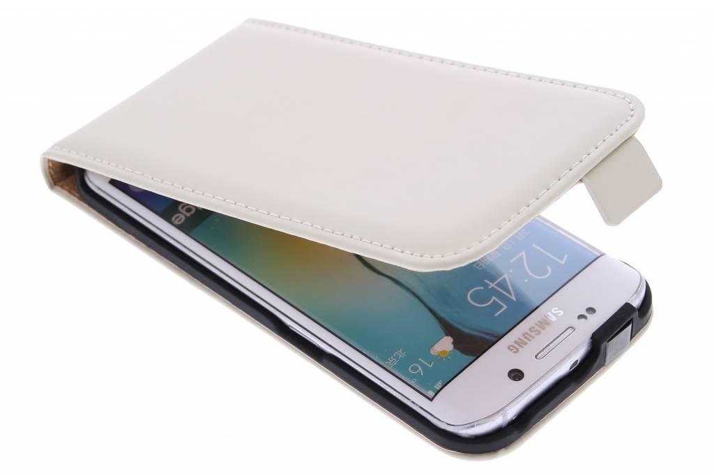 Selencia Luxe Flipcase voor de Samsung Galaxy S6 Edge - Gebroken wit