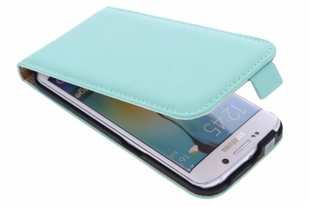 Selencia Luxe Flipcase voor de Samsung Galaxy S6 Edge - Mintgroen