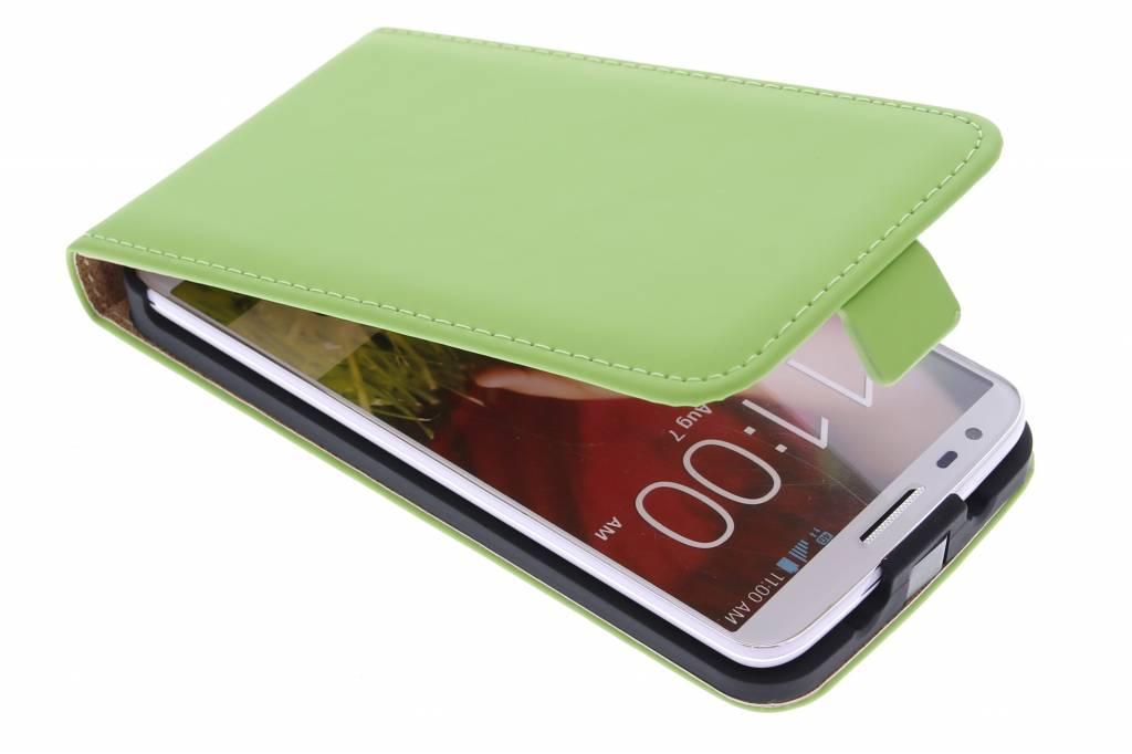 Selencia Luxe Flipcase voor de LG G2 - Groen