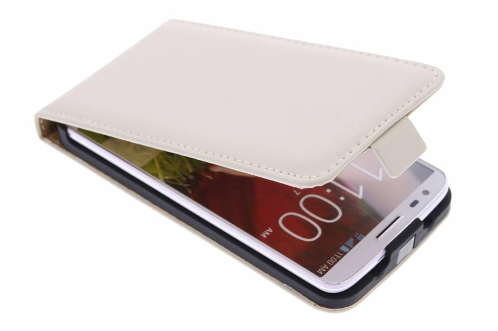 Selencia Luxe Flipcase voor de LG G2 - Gebroken Wit