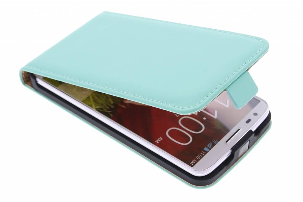Selencia Luxe Flipcase voor de LG G2 - Mintgroen