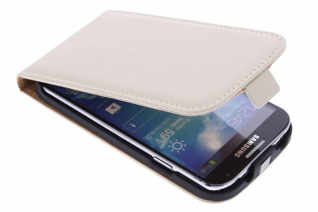 Selencia Luxe Flipcase voor de Samsung Galaxy S4 - Gebroken Wit