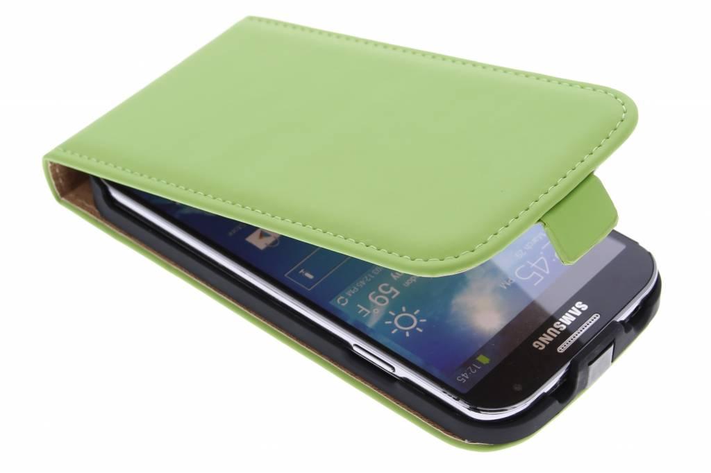 Selencia Luxe Flipcase voor de Samsung Galaxy S4 - Groen
