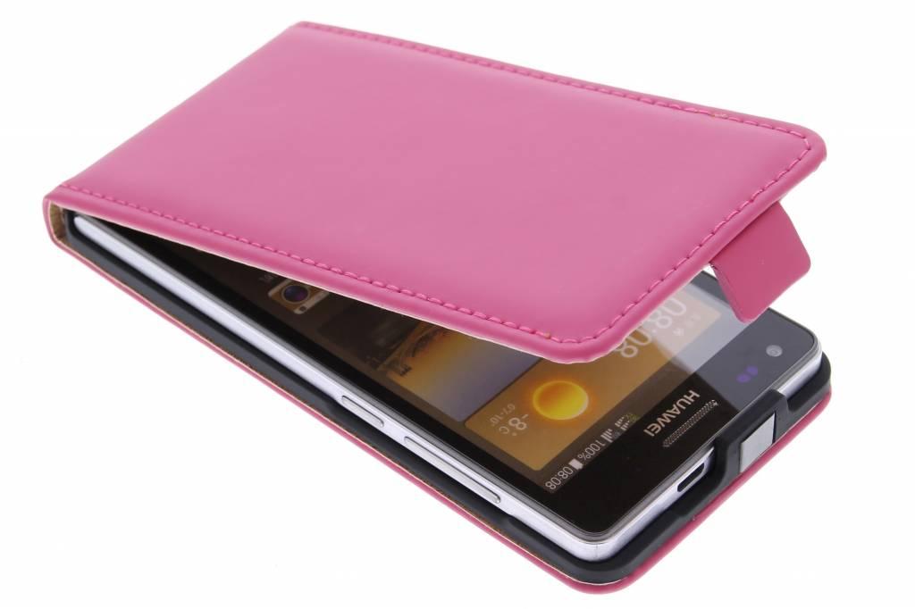 Selencia Luxe Flipcase voor de Huawei Ascend G6 - Fuchsia