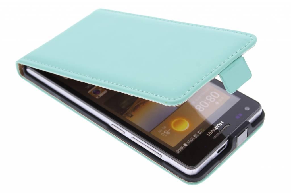 Selencia Luxe Flipcase voor de Huawei Ascend G6 - Mintgroen