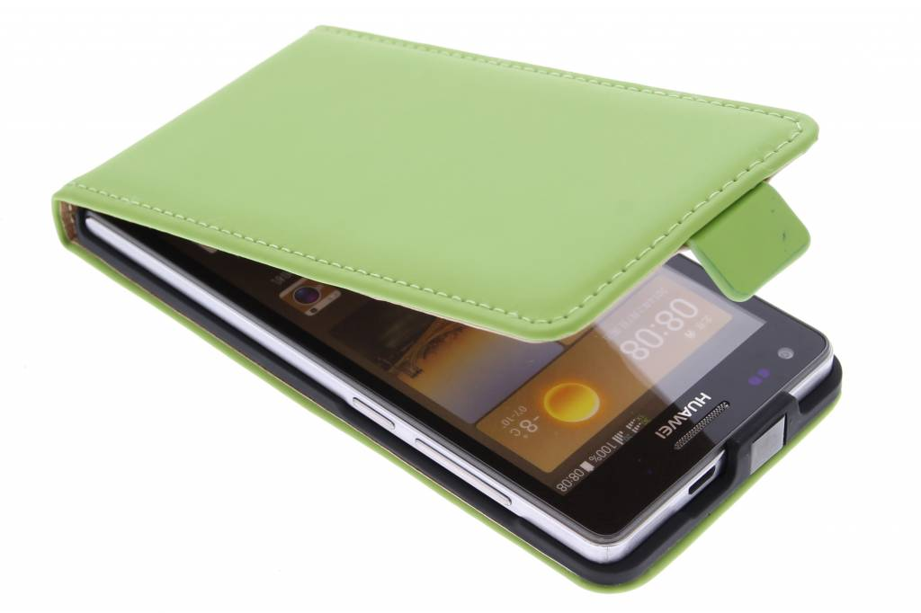 Selencia Luxe Flipcase voor de Huawei Ascend G6 - Groen