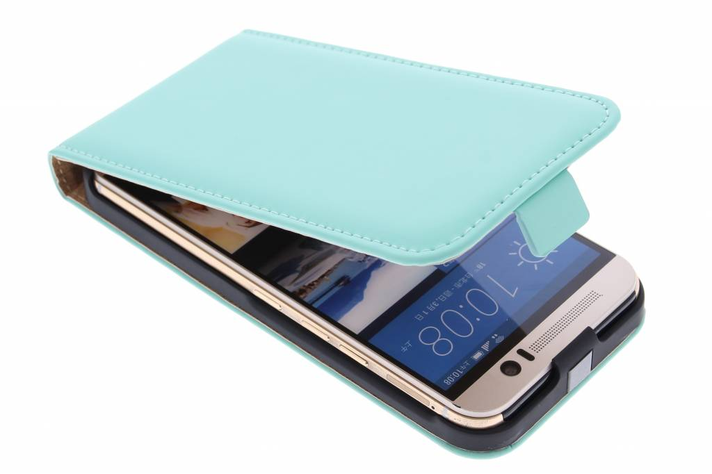 Selencia Luxe Flipcase voor de HTC One M9 - Mintgroen