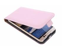Selencia Luxe Flipcase HTC One M9 - Poederroze