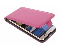 Selencia Luxe Flipcase HTC One M9 - Fuchsia
