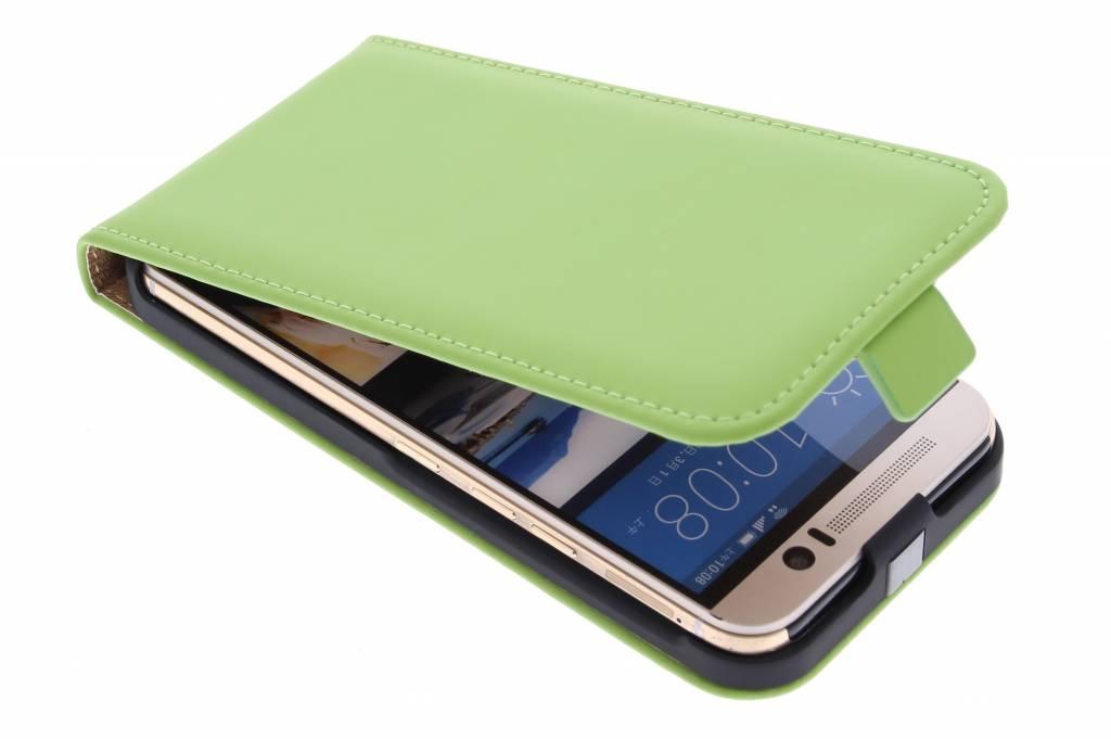 Selencia Luxe Flipcase voor de HTC One M9 - Groen