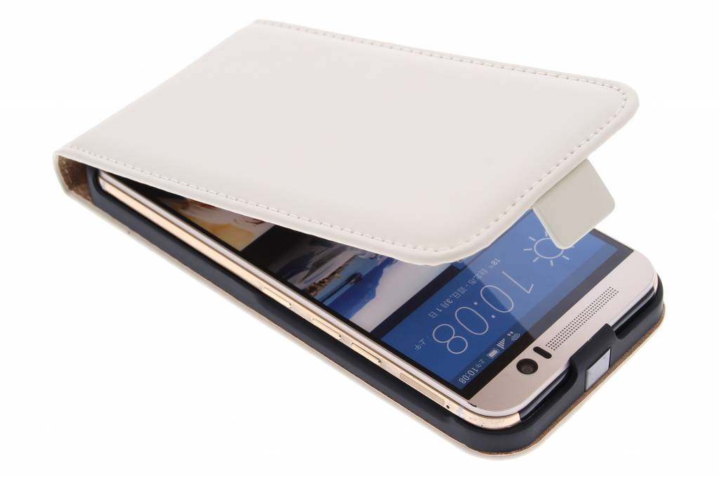 Selencia Luxe Flipcase voor de HTC One M9 - Gebroken Wit