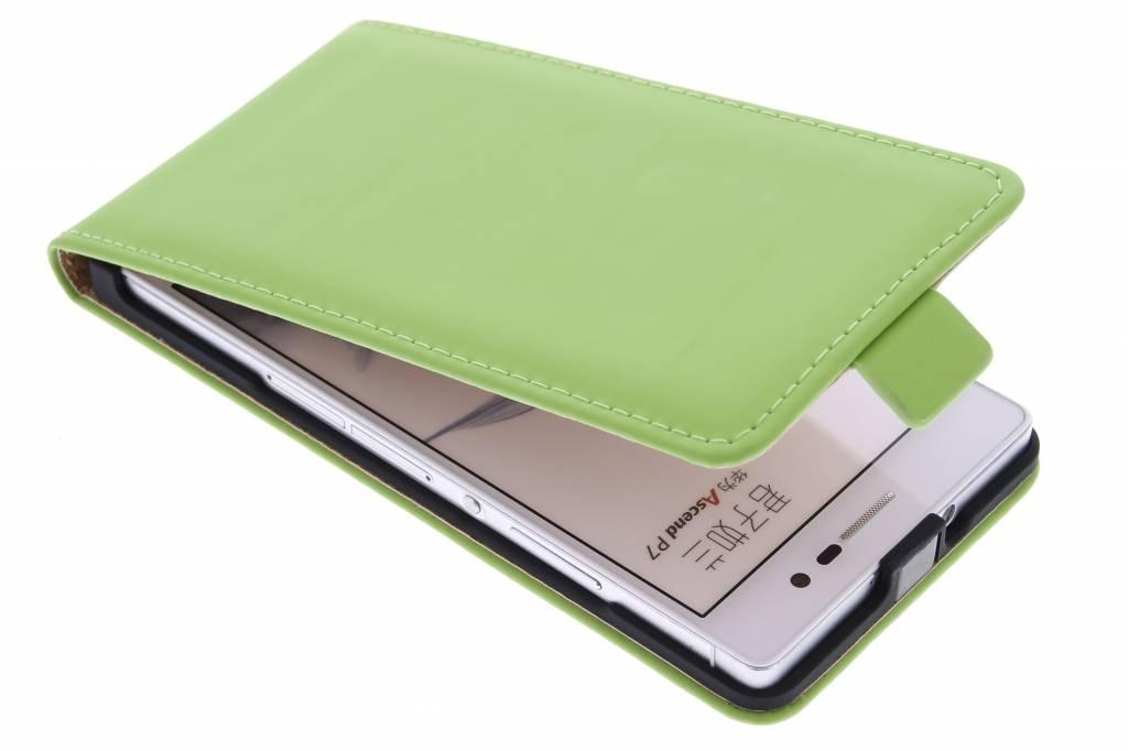 Selencia Luxe Flipcase voor de Huawei Ascend P7 - Groen
