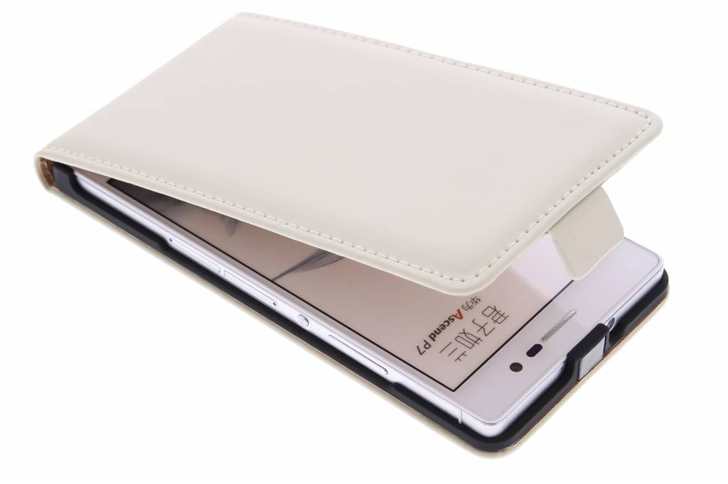 Selencia Luxe Flipcase voor de Huawei Ascend P7 - Gebroken Wit