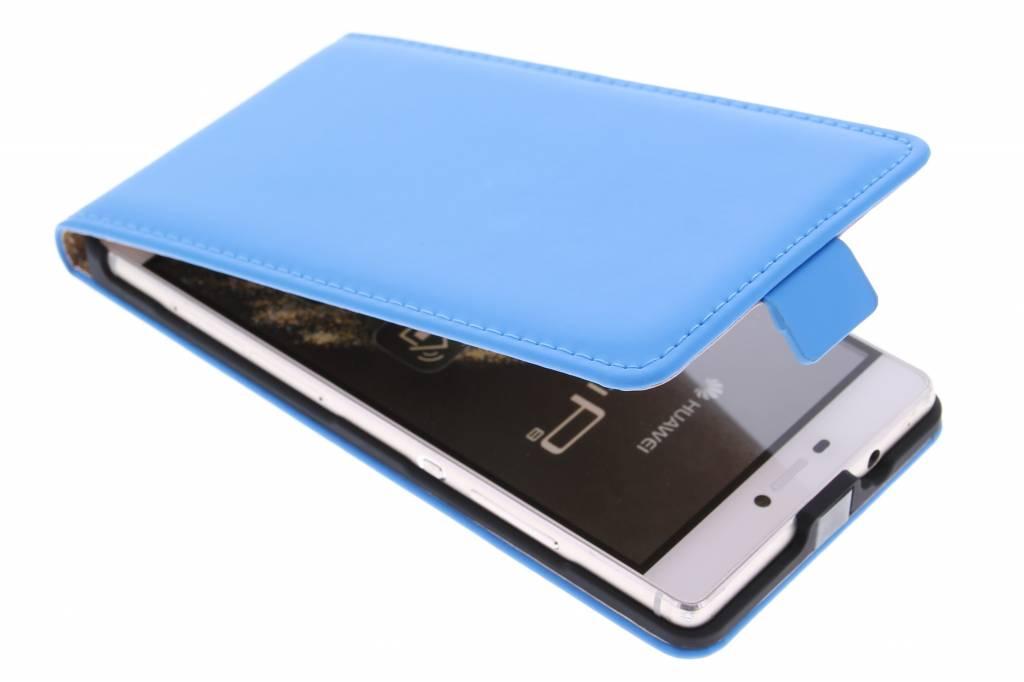 Selencia Luxe Flipcse voor de Huawei P8 - Blauw