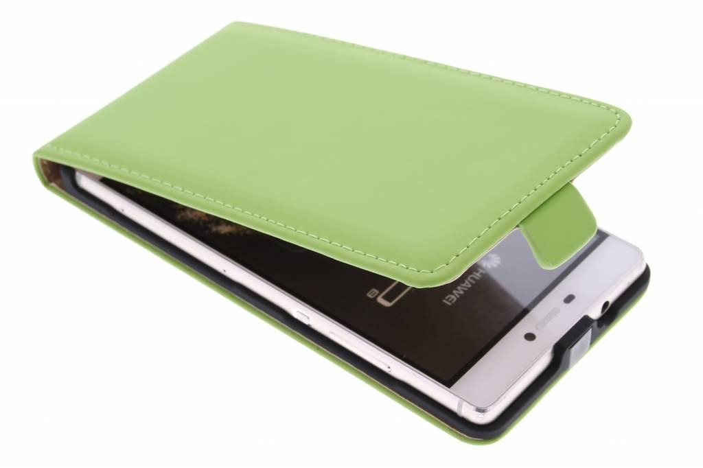 Selencia Luxe Flipcse voor de Huawei P8 - Groen
