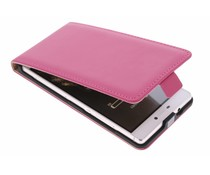 Selencia Luxe Flipcase Huawei P8 - Fuchsia