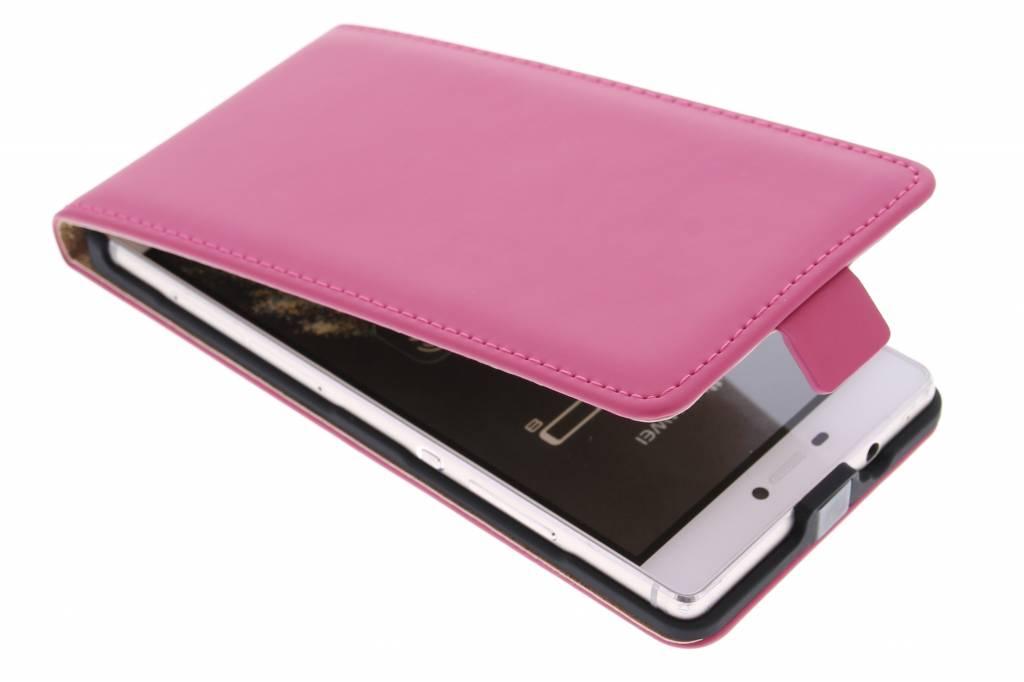 Selencia Luxe Flipcse voor de Huawei P8 - Fuchsia