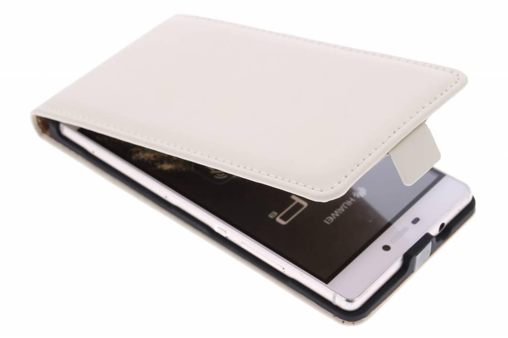 Selencia Luxe Flipcse voor de Huawei P8 - Gebroken Wit