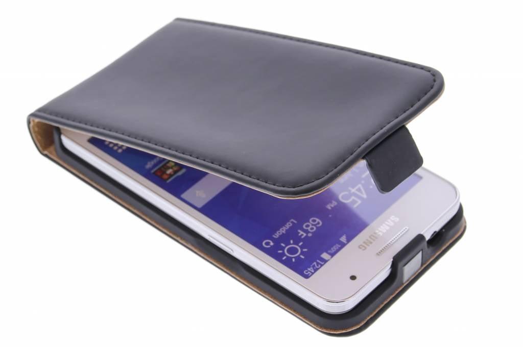 Selencia Luxe Flipcase voor de Samsung Galaxy Core 2 - Zwart
