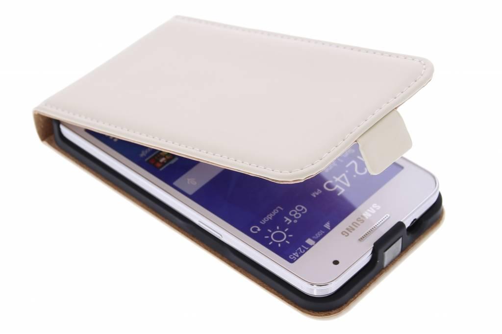 Selencia Luxe Flipcase voor de Samsung Galaxy Core 2 - Gebroken Wit
