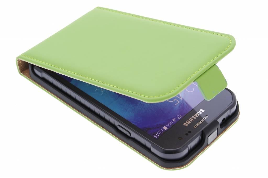 Selencia Luxe Flipcase voor de Samsung Galaxy Xcover 3 - Groen