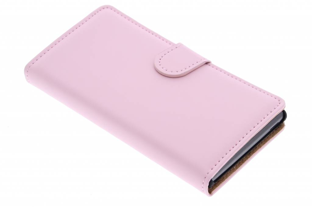 Selencia Luxe Book Case voor de Huawei Ascend G6 - Poederroze