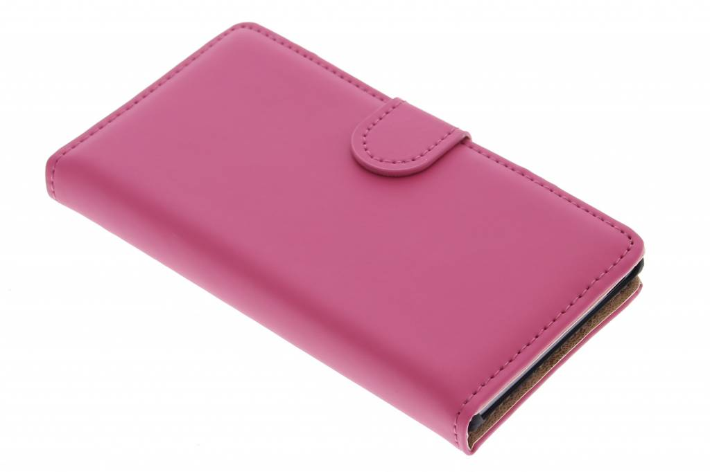 Selencia Luxe Book Case voor de Huawei Ascend G6 - Fuchsia