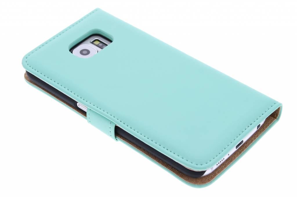 Bibliothèque De Luxe Pour Samsung Galaxy S6 - Menthe dGamCyD
