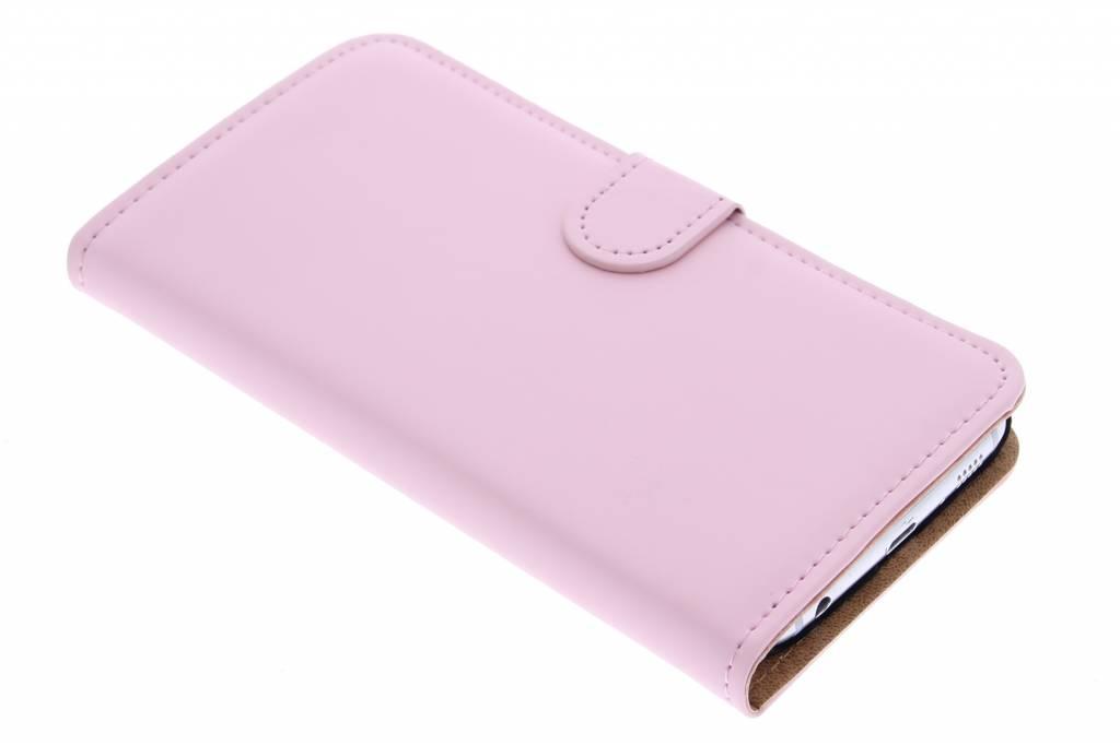 Selencia Luxe Book Case voor de Samsung Galaxy S6 - Poederroze