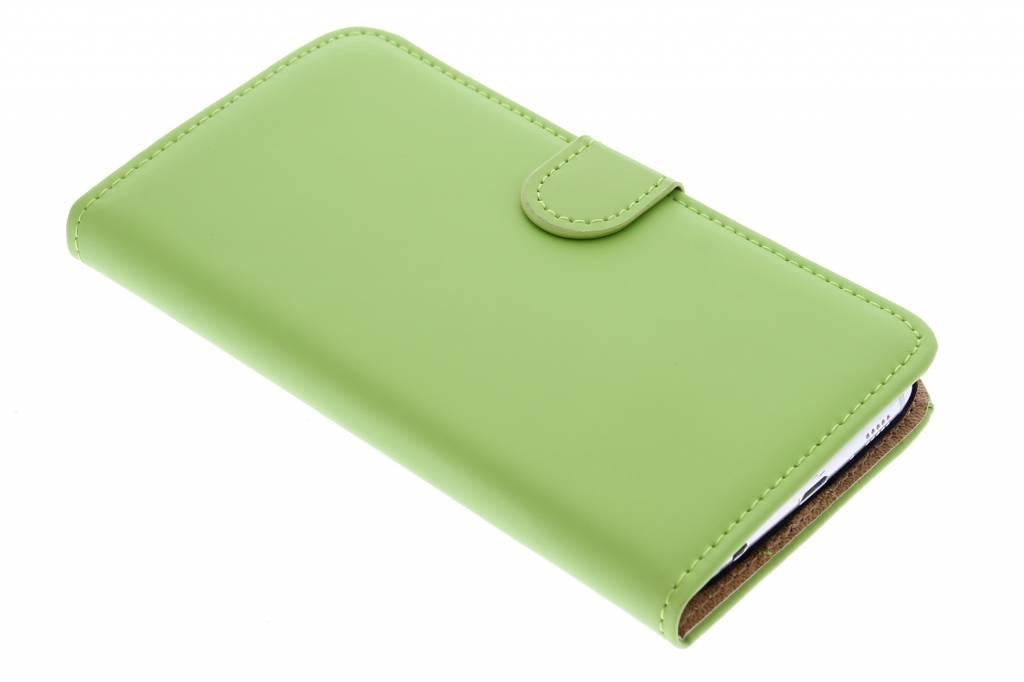 Luxe Book Case voor de Samsung Galaxy S6 - Groen