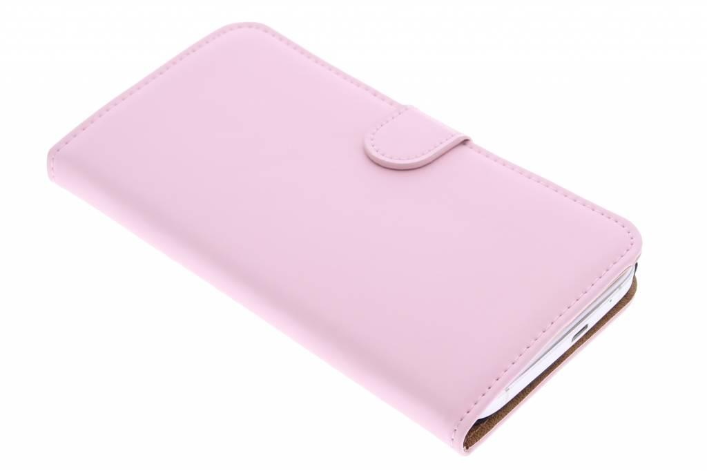 Selencia Luxe Book Case Huawei Ascend G7 - Poederroze