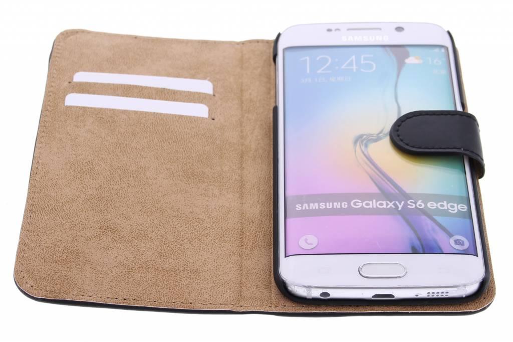 Cas De Livre De Luxe Pour Samsung Galaxy S6 Bord - Noir otVYAyv