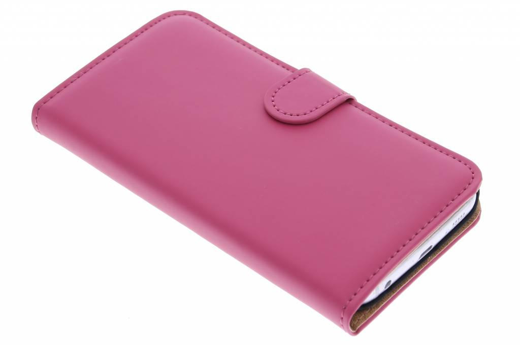 Selencia Luxe Book Case voor de Samsung Galaxy S6 Edge - Fuchsia