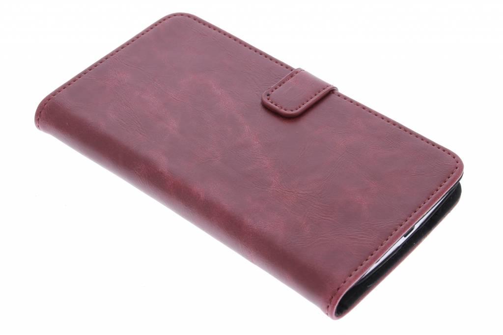 Rode luxe leder booktype hoes voor de Motorola Nexus 6
