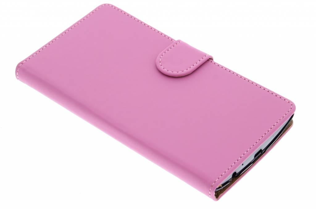 Roze effen booktype hoes voor de LG G4