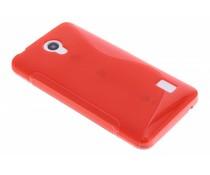 Rood S-line TPU hoesje Huawei Y635