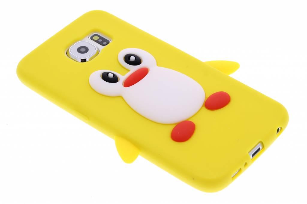 Geel pinguïn siliconen hoesje voor de Samsung Galaxy S6