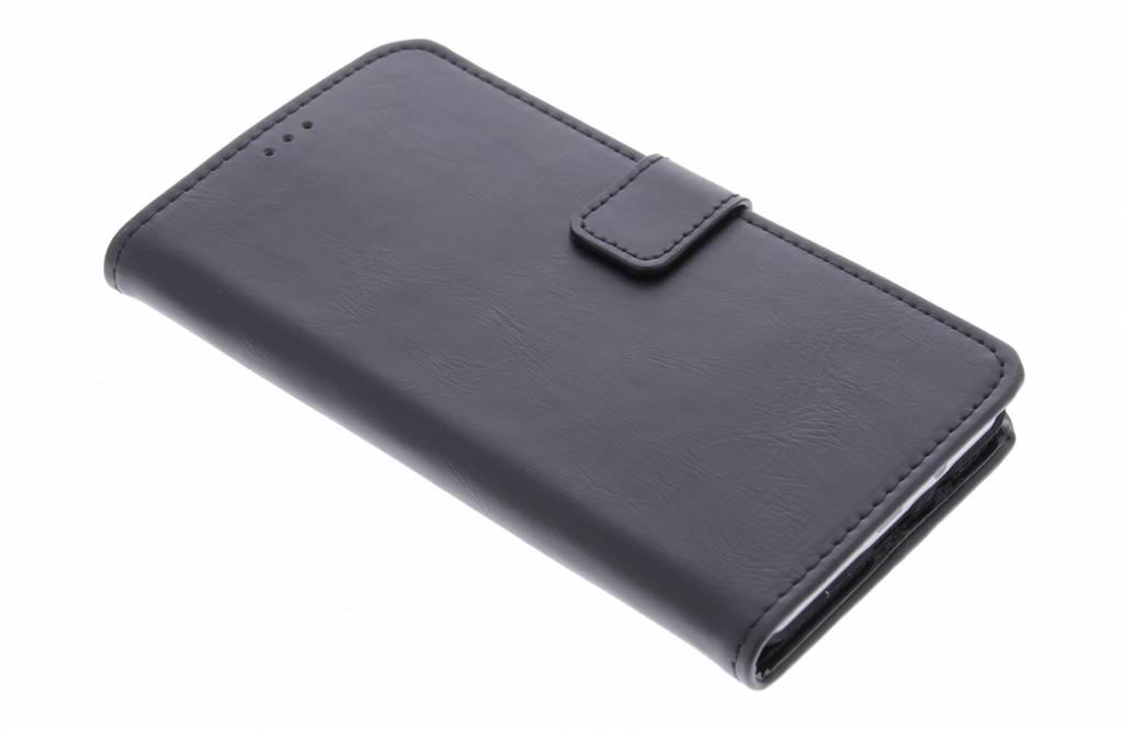 Zwarte luxe leder booktype hoes voor de Samsung Galaxy A5